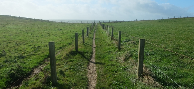 Path from car park to the sea